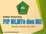 Daftar Penerima PIP MI, MTs dan MA Periode Januari - Juni 2017